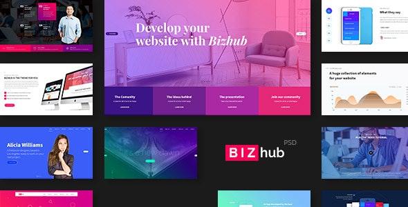 BIZhub - Mega PSD Pack - Creative Photoshop