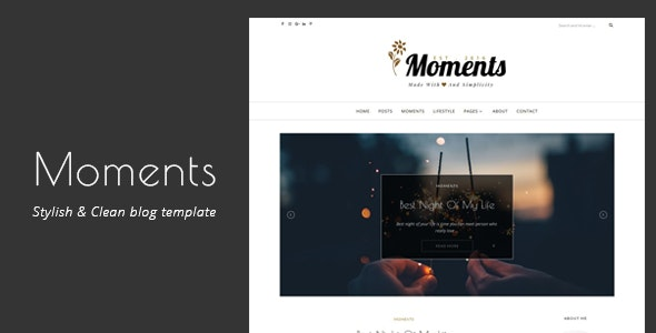 Moments   Stylish & Clean Blog Template - Site Templates