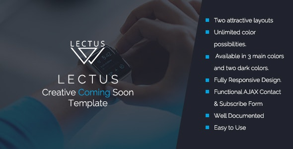 LECTUS- Creative Coming Soon Template - Specialty Pages Site Templates
