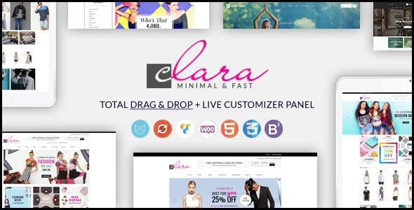 WP Clara - Multipurpose Responsive Minimalist WordPress Theme - WooCommerce eCommerce