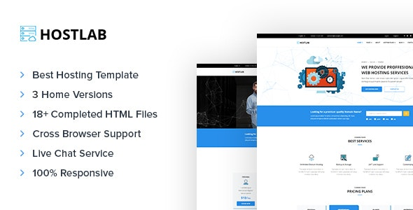 HostLab - Domain & Hosting Responsive Template - Hosting Technology