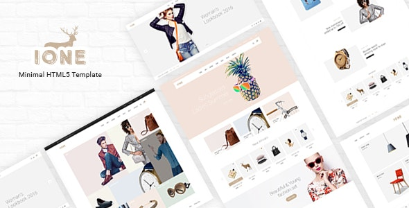 iOne - Minimal Responsive Portfolio Ecommerce Template - Fashion Retail