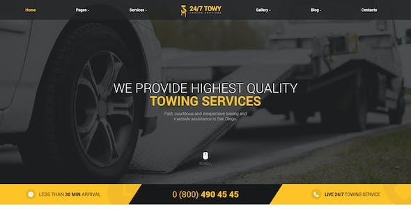 Towing Service Templates from ThemeForest