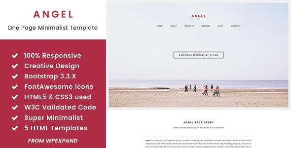Angel - One Page Minimalist HTML Template - Portfolio Creative