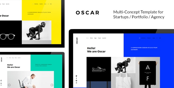 OSCAR - Fresh Multi Concept Template for Startups / Portfolio / Agency /  Modern Business Websites - Creative Site Templates