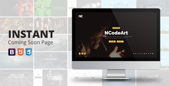 Instant Coming Soon Page - Under Construction Specialty Pages