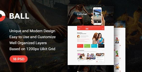 Ball — Multipurpose Portfolio/Event PSD Template - Portfolio Creative