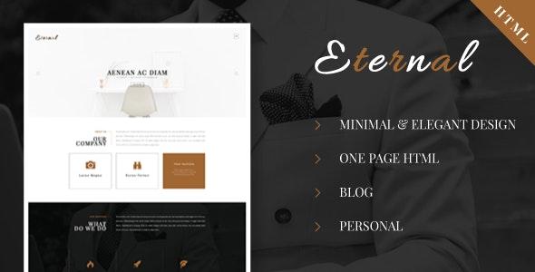 Eternal - Personal Elegant HTML Blog Template - Personal Site Templates