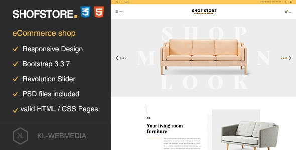 Shofstore - eCommerce HTML5 template - Retail Site Templates