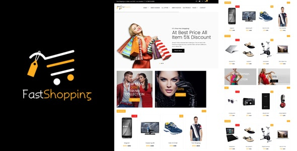 Fast-Shopping, Multipurpose Bootstrap html 5 Ecommerce Template - Shopping Retail
