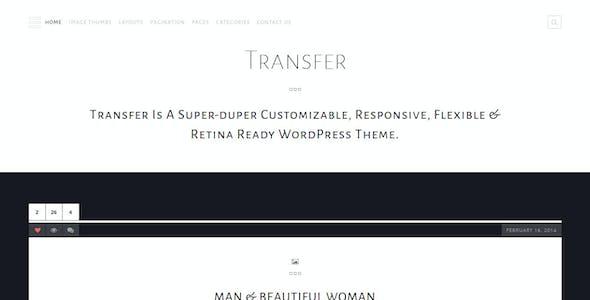 Transfer - Retina Responsive WordPress Blog Theme