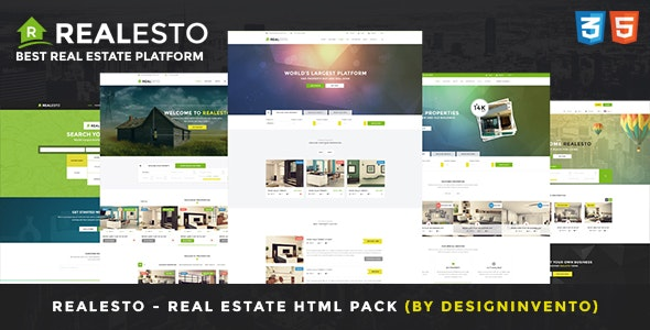 Realesto - Real Estate HTML Pack - Corporate Site Templates