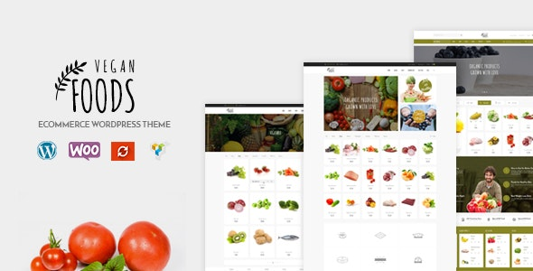 Vegan Food - Organic Store Responsive WooCommerce WordPress Theme - WooCommerce eCommerce