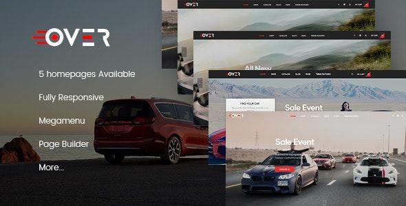 Leo Over Car Rental & Auto Parts Service PrestaShop Theme - PrestaShop eCommerce