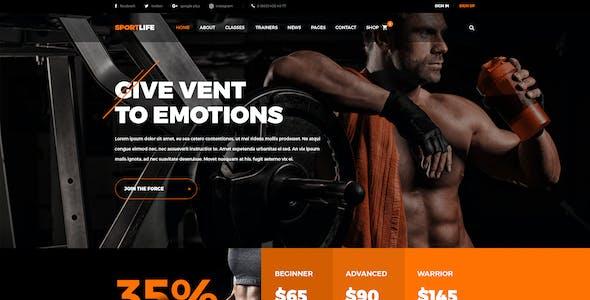 SportLife - Sport, Gym, Fitness PSD Template