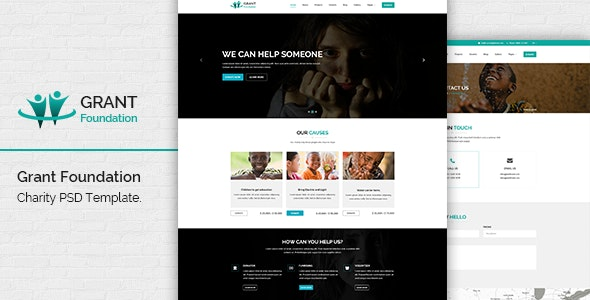 Grant Foundation PSD Template - Charity Nonprofit