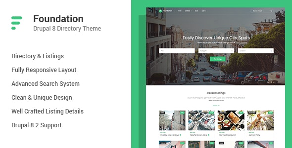 Foundation - Directory & Listings Drupal 8 Theme by