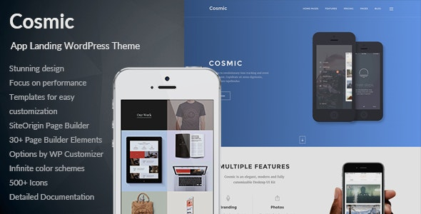 Cosmic - App Landing Multi-Purpose WordPress Theme - Software Technology