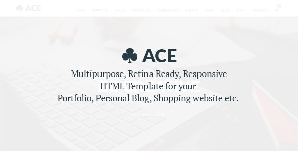 ACE - Multi-Purpose HTML Template especially for your Resume - Resume / CV Specialty Pages