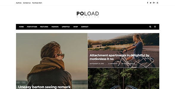 Poload Multipurpose Magazine Psd - Miscellaneous PSD Templates