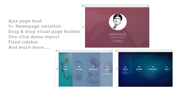 Alamgir - Ajax CV/Resume Theme - Portfolio Creative