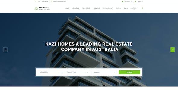 StatePress - Real Estate PSD Template