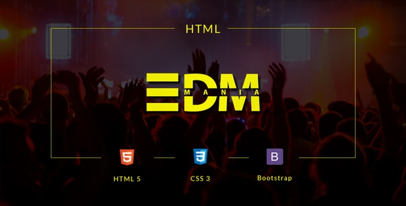 EDMania - EDM & Music Template - Music and Bands Entertainment