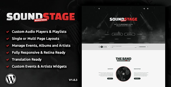 Sound Stage - A Professional WordPress Theme for Music & Bands - Music and Bands Entertainment