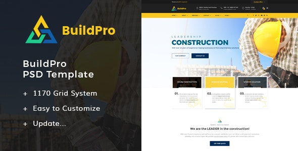 BuildPro - Construction PSD Templates - Business Corporate