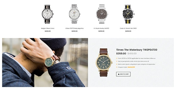 Modify - Watches Ecommerce PSD Template - Retail PSD Templates