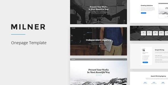 Milner - Onepage PSD Template - Creative Photoshop