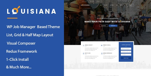 Louisiana - Responsive Listing Directory WordPress Theme - Directory & Listings Corporate
