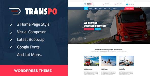 TRANSPO - Logistic & Transport WordPress theme