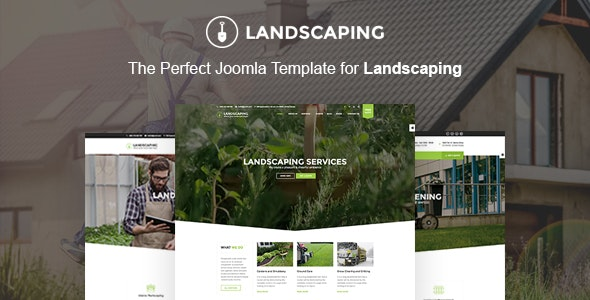 Landscaping Joomla Template - Landscaping - Business Corporate