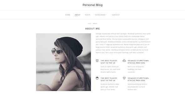Personal Blog - Modern Minimal Personal Blog PSD
