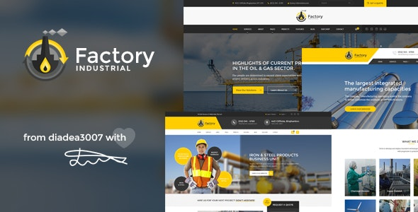 Factory Industrial - Engineering PSD Template - Business Corporate