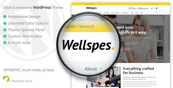 Wellspes - Company, Industry, Business & Finance WordPress Theme - Business Corporate