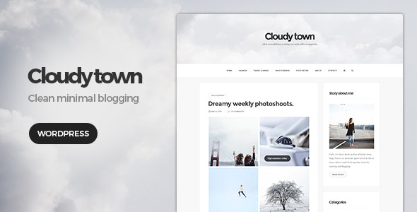 Cloudy Town - Clean Minimal Blog Theme - Blog / Magazine WordPress