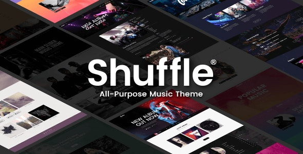Shuffle - Music Band, Store & Label Theme by Edge-Themes