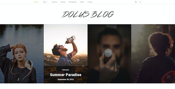 Dolus - Blog PSD Template