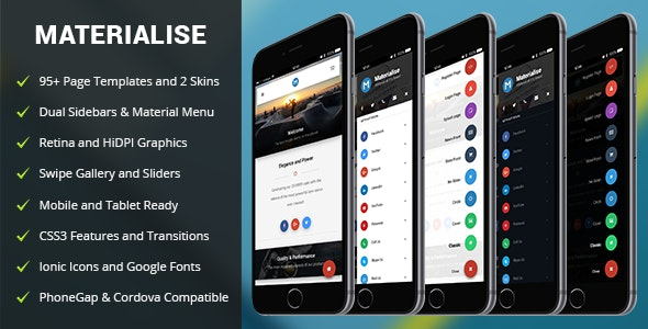 Materialise Mobile - Mobile Site Templates