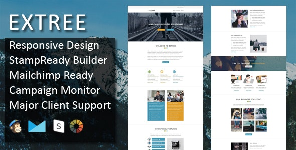 Extree - Multipurpose Responsive Email Template + Stampready Builder - Email Templates Marketing