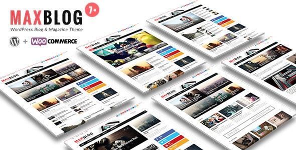MaxBlog - Flat News Magazine Blog WP - News / Editorial Blog / Magazine