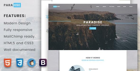 Paradise  -  Creative Multipurpose Landing Page - Corporate Landing Pages