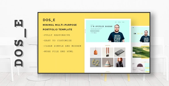 DOS_E- Minimal Multipurpose Portfolio - Personal Muse Templates