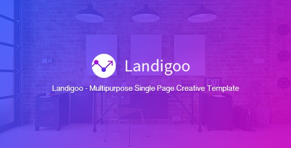 Landigoo - Multipurpose Single Page Creative Template - Corporate Landing Pages