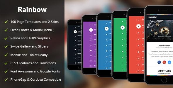 Rainbow Mobile - Mobile Site Templates