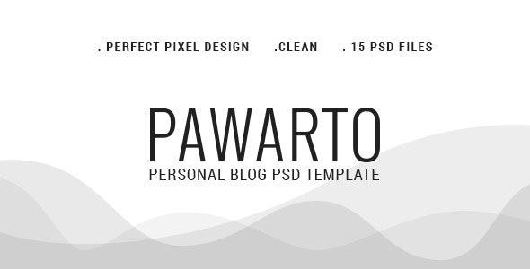Pawarto | Personal Blog PSD Template - Personal PSD Templates