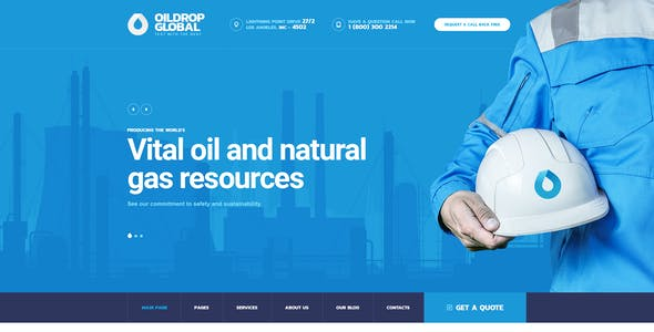 OilDrop - oil and gas industrial PSD template