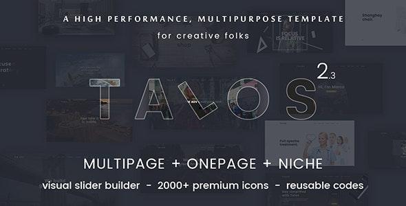 Talos - Creative Multipurpose HTML Template - Creative Site Templates